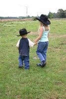 Cowboy and Girl 2 by Paigesmum-stock