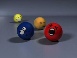 Emoticons balls by De4thPr00f
