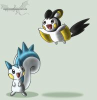 Emolga and Pachirisu - ANIMATION by Sapphiresenthiss