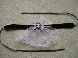 Lace Cravat Choker - Cameo by mad-hatter-inc