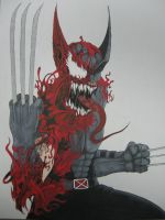 WOLVERINE AS CARNAGE by movieartman