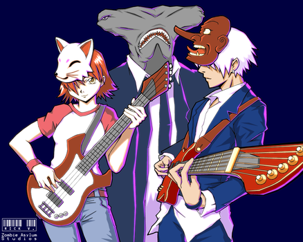 Part of the band from my manga by nekokawai