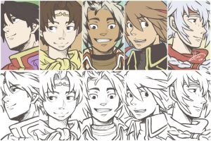 Suikoden - The Leaders by msloveless