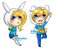 .:Finn and Fionna:. by MuraUsagi