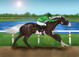 The First Race by emerald-equine
