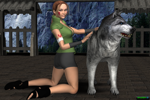 Hana Inuzuka first try by Dangerboy3D
