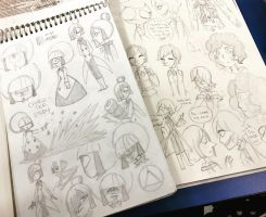 Steven Universe: Character Sketch Concepts by kuku88