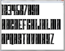 Font with FLAMES - variant 2 by jbensch