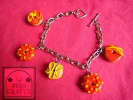 FieryRed Donut Bracelet by efeeha