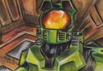 Master Chief Sketch Card by KuddlyFatality