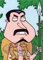 Quagmire as Kraven the Hunter by ElainePerna