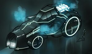 Tron Legacy Light Tractor by helioart