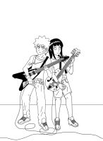 ROCK ON NaruHina Lineart by Silent-Shanin