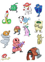 Baddies, monsters,and foes by that-one-guy-again