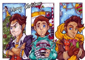 BL - Christmas Postcards by KeyshaKitty