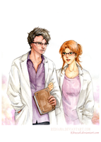 Commission - Bruce Banner and Stephanie by redsama