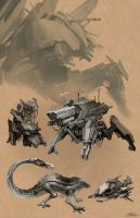 Mech sketches by miasus