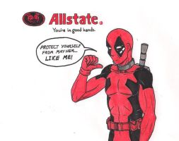 Deadpool Allstate Ad Cover by 13foxywolf666
