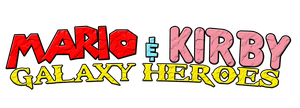 Mario and Kirby Galaxy Heroes Logo by KingAsylus91
