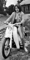 Scooter Girl, 1960's by NJDVINTAGE