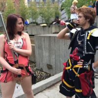 Sakura-Con 2014 Sora and Kairi by XGamer-MaidenX