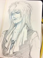 Doodle of the day: An arrogant Jareth. by Cris-Nicola