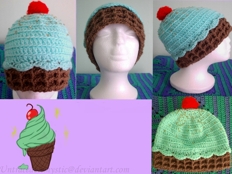 Minty Ice cream hat (Availible) by Untraceablemystic