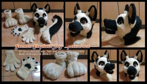 German Shepherd dog partial suit SOLD by dragon-x2
