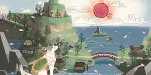 Okami - Kamiki Village by Yuna-Dragon