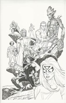 Avengers-Guardians of the Galaxy Original art by StephaneRoux