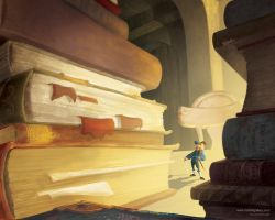 Mountains of Books by doodlediddy