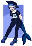 Gothic Shark Boy: Auction (CLOSE) by orchidi