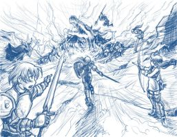 Final Fantasy Tactics sketch by perapera