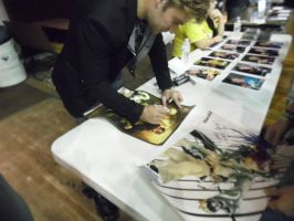 Vic signing my stufff by ForeverFrosty