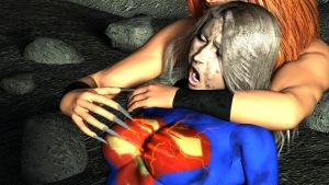 Destroying Supergirl's symbol by rustedpeaces