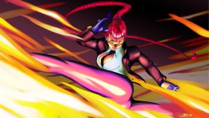 Crimson Viper burning kick by mehdianim