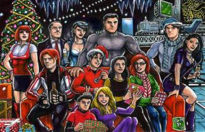 Batcave Xmas by olybear