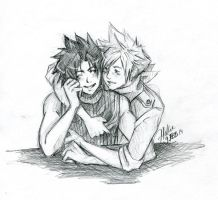 FFVII - Zack and Cloud - I will never leave you by BlackCherryCookie
