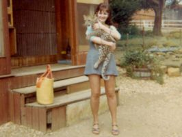 Me with Leopard Cub. by Thelma1