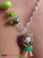 Fairy Necklace - Eating apple by tivibi