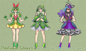 PokeFashion by Gii: Caterpie Line