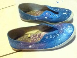 Galaxy shoes by MuffinCreeperMint