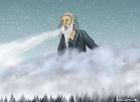 Old Man Winter by Louisetheanimator