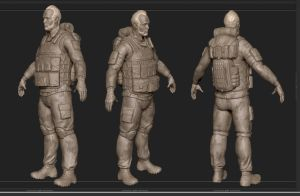900 tri Soldier Wip 3 drapery and other fun things by emaciate