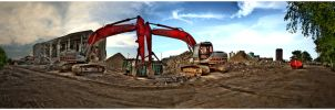 Excavator Panoramic by fizzle017