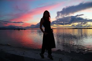 me at august sunset by RamonaAnomar
