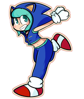 Miku The Hedgehog by DuckyDeathly