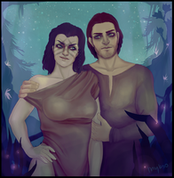 Skyrim: Vilkas and Avamir by myks0