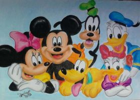 Mickey and friends by DanloS