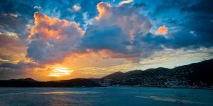 A Caribbean sunset by BillyRWebb